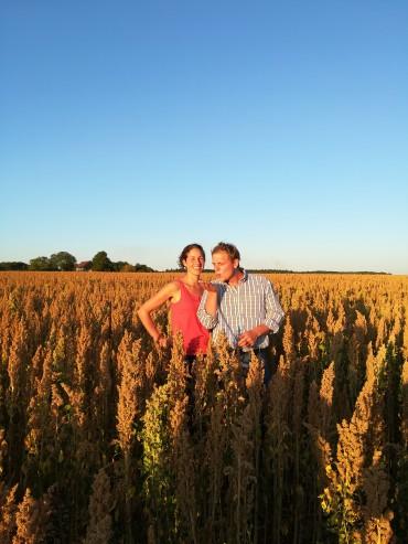 Nouveau , Marion et Damien  producteurs de quinoa, lentilles, petit épeautre, pois cassé